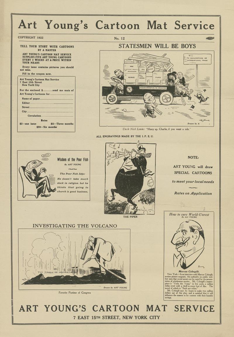Art Young's Cartoon Mat Service