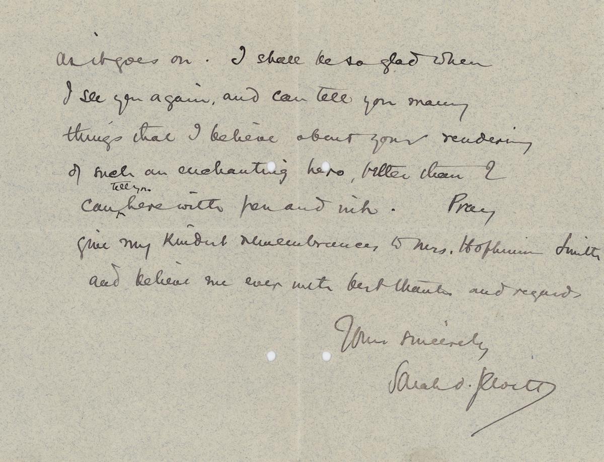 Sarah O. Jewett letter 1889 page 2