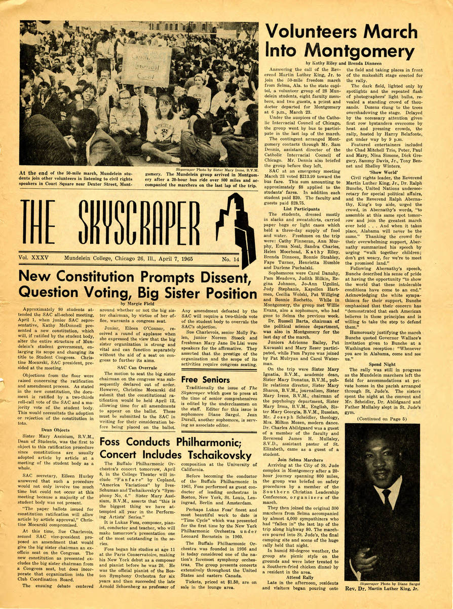 Special edition on Selma March, Skyscraper, April 7, 1965