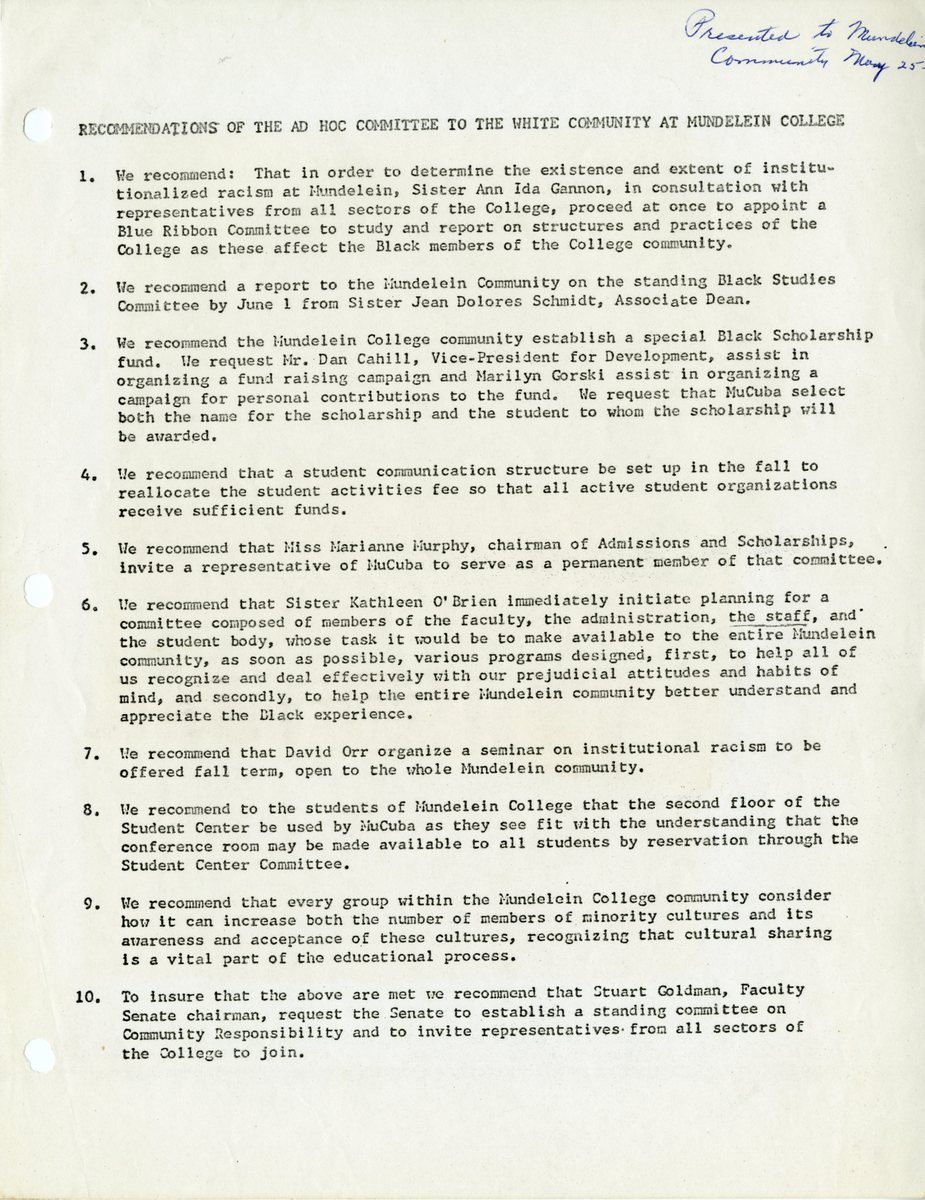 Recommendations of the Ad Hoc Committee to the White Community at Mundelein College001.jpg