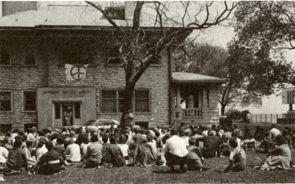 Photo, Alumnae Line, August 1970