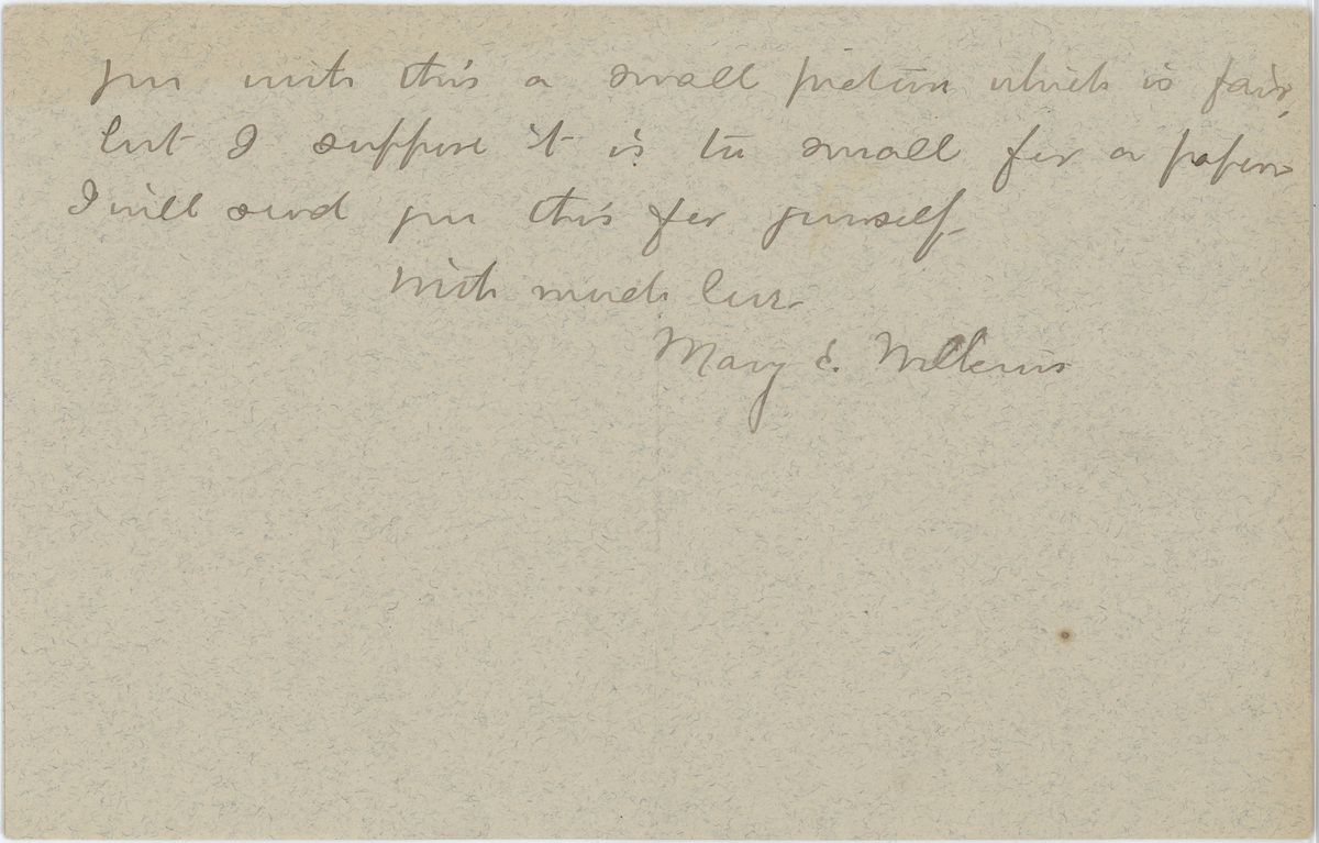 Mary E. Wilkins Freeman letter Mr. Pratt page 4