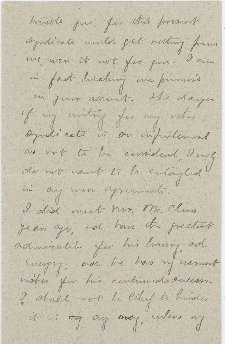 Mary E. Wilkins Freeman letter Mr. Pratt page 3