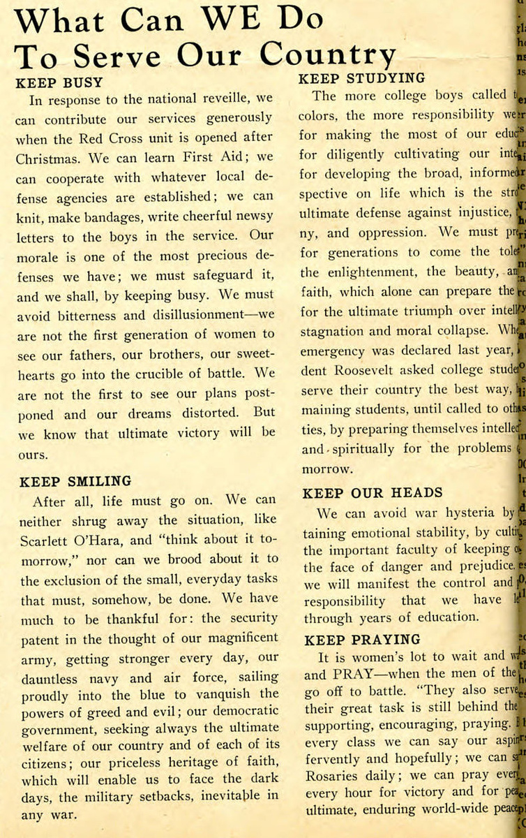 """What Can WE Do To Serve Our Country,"" Skyscraper, December 18, 1941"