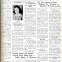 """U.S. Government Advises Colleges for Women to Continue Training Leaders,"" Skyscraper, January 16, 1942"