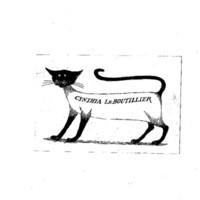 Gorey Designed Personal Book Plates Le Boutillier