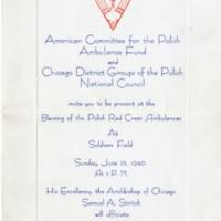 Ambulance Dedication Invitation