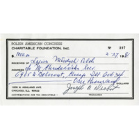PAC Receipt for Donation