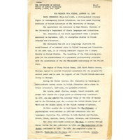 UChicago Press Release, January 1962