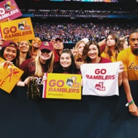 LUC Students at the Final Four Game in San Antonio, TX
