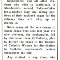 """""""Save Your Sugar and Bake a Cake for Him,"""" Skyscraper, March 5, 1943"""