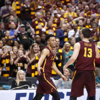 The Loyola University Chicago Men's Basketball team competes in the second round of the NCAA Tournament against the University of Tennessee