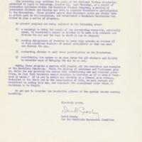 """Dear Colleague,"" October 6, 1968"