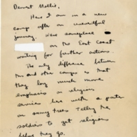 Letter from Carl Leiber to Mollie, Jan 17, 1944
