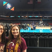 My friend and me in the student section in the Alamodome