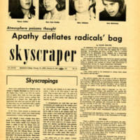 """Apathy deflates radicals' bag,"" Skyscraper, January 24, 1969"