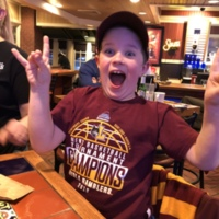 Future Loyola student, Kenny is a BIG Rambler fan.