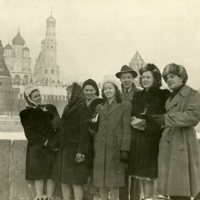 Mollie and other youth delegates visiting Moscow