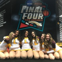 The Loyola Dance Team at the final four!