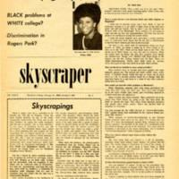 """Subtle white barriers segregate minority groups, says Diane Allen."" Skyscraper, October 4, 1968"