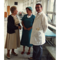Marie Krakowski with Doctor and Nurse
