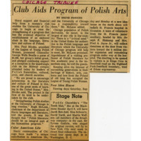 """Club Aids Program of Polish Arts"""