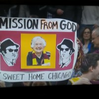 Sister Jean Blues Brothers sign.