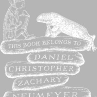 Gorey Designed Personal Book Plates Neumayer