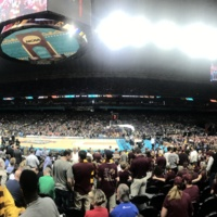Alamo Dome  - Prior to tip-off of Final four Game