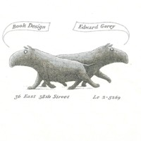 Gorey Designed his Business Card (Proof)