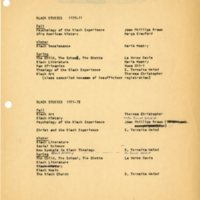 Black Studies 1970 - 71