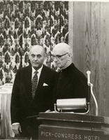 Founders' Day - 1973- Sir Georg Solti and Father Maguire.jpg